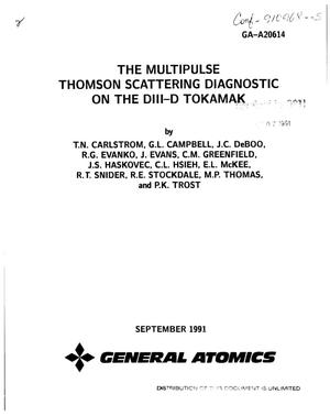 The multipulse Thomson scattering diagnostic on the DIII-D tokamak