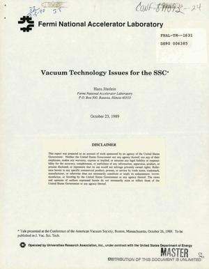 Primary view of object titled 'Vacuum technology issues for the SSC (Superconducting Super Collider)'.