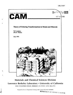 Theory of ordering transformations in metals and minerals