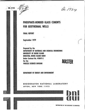 Primary view of object titled 'Phosphate-bonded glass cements for geothermal wells. Final report'.