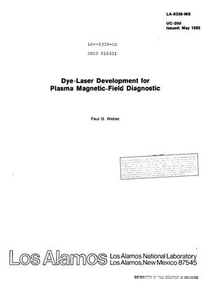 Primary view of object titled 'Dye-laser development for plasma magnetic-field diagnostic'.