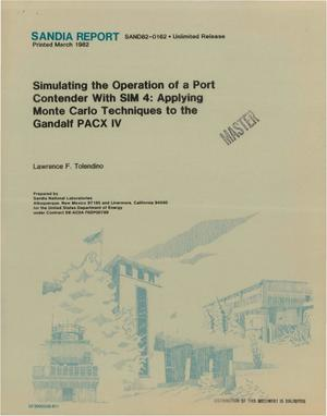Primary view of object titled 'Simulating the operation of a port contender with SIM 4: applying Monte Carlo techniques to the Gandalf PACX IV'.