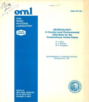 Primary view of object titled 'Geoecology: a county-level environmental data base for the conterminous United States'.