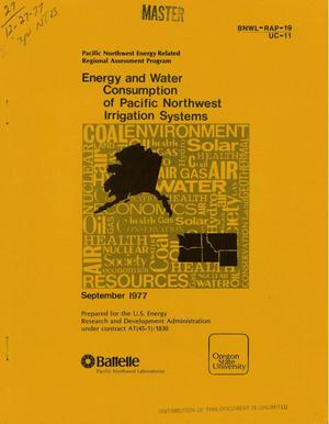 Primary view of object titled 'Energy and water consumption of Pacific Northwest irrigation systems'.