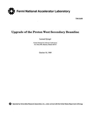 Primary view of object titled 'Upgrade of the Proton West secondary beamline'.