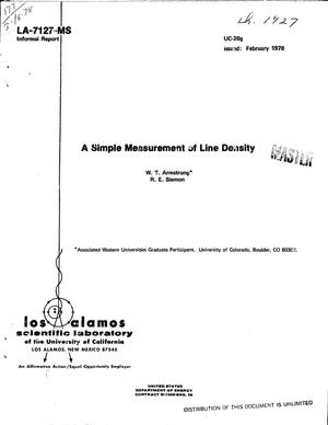 Primary view of object titled 'Simple measurement of line density'.