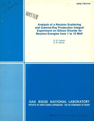 Primary view of object titled 'Analysis of a neutron scattering and gamma-ray production integral and experiment on silicon dioxide for neutron energies from 1 to 15 MeV'.