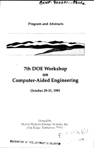 Primary view of object titled '7th DOE workshop on computer-aided engineering'.