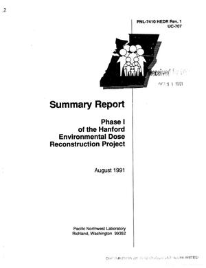 Primary view of object titled 'Phase 1 of the Hanford Environmental Dose Reconstruction Project'.