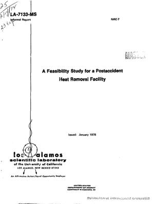 Primary view of object titled 'Feasibility study for a postaccident heat removal facility. [LMFBR]'.