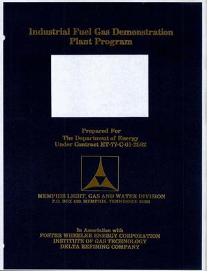 Primary view of object titled 'Industrial Fuel Gas Demonstration Plant Program. Bid packages for materials (Deliverable No. 28)'.
