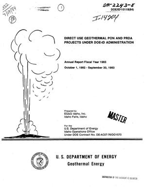 Primary view of object titled 'Direct use geothermal PON and PRDA projects under DOE-ID Administration. Annual report FY 1983'.