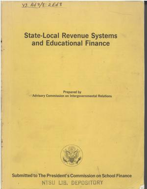 Primary view of object titled 'State-local revenue systems and educational finance'.