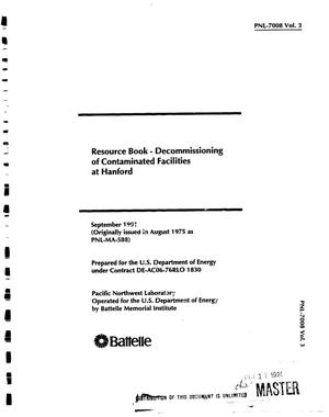 Primary view of object titled 'Resource book: Decommissioning of contaminated facilities at Hanford'.
