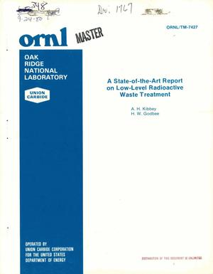 Primary view of object titled 'State-of-the-art report on low-level radioactive waste treatment'.