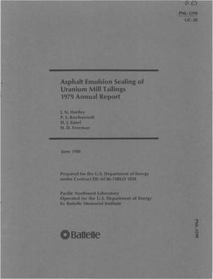 Primary view of object titled 'Asphalt emulsion sealing of uranium mill tailings. 1979 annual report'.