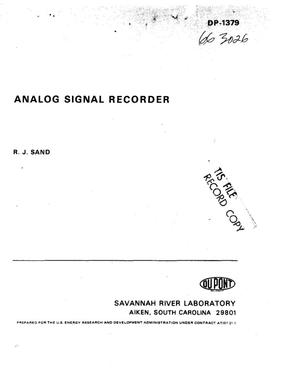 Primary view of object titled 'Analog signal recorder'.