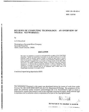 Primary view of object titled 'Reviews of computing technology: An overview of neural networks'.