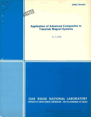 Primary view of object titled 'Application of advanced composites in tokamak magnet systems'.