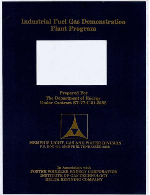 Primary view of object titled 'Industrial Fuel Gas Demonstration Plant Program. Annual progress report, January-December 1979'.