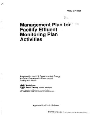 Primary view of object titled 'Management plan for Facility Effluent Monitoring Plan activities'.