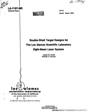 Primary view of object titled 'Double-shell target designs for the Los Alamos Scientific Laboratory eight-beam laser system'.