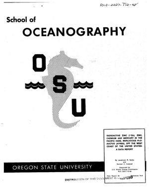 Primary view of object titled 'Radioactive zinc ( sup 65 Zn), zinc, cadmium and mercury in the Pacific Hake Merluccius productus (AYRES), off the West Coast of the United States'.