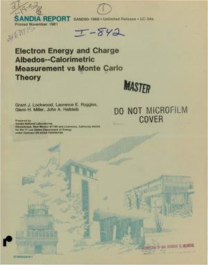 Primary view of object titled 'Electron energy and charge albedos - calorimetric measurement vs Monte Carlo theory'.