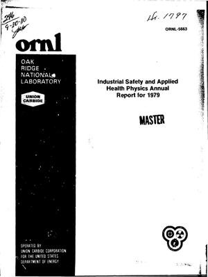 Primary view of object titled 'Industrial safety and applied health physics. Annual report, 1979'.
