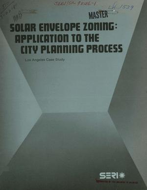 Primary view of object titled 'Solar envelope zoning: application to the city planning process. Los Angeles case study'.