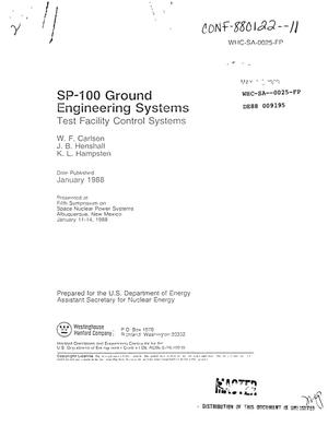 Primary view of object titled 'SP-100 Ground Engineering Systems: Test facility control systems'.
