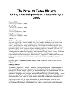 The Portal to Texas History: Building a Partnership Model for a Statewide Digital Library