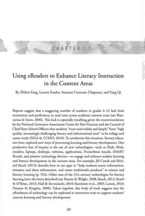Using eReaders to Enhance Literacy Instruction in the Content Areas