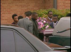 Primary view of [News Clip: Jones funeral]