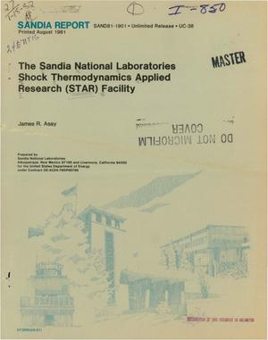 Primary view of object titled 'Sandia National Laboratories shock thermodynamics applied research (STAR) facility'.