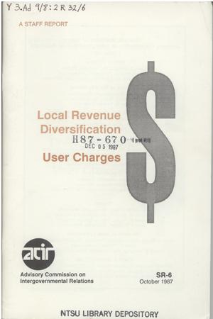 Local revenue diversification : user charges