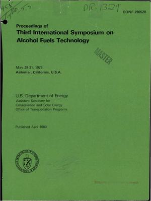 Primary view of object titled 'Third international symposium on alcohol fuels technology'.