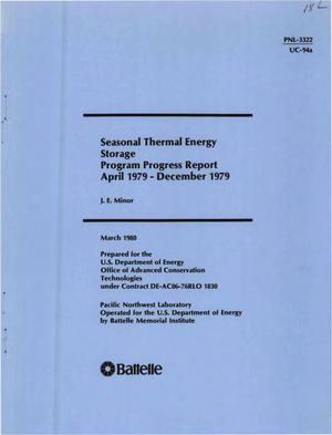 Primary view of object titled 'Seasonal thermal energy storage. Program progress report, April 1979-December 1979'.