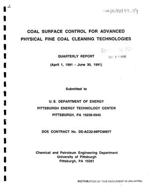 Primary view of object titled 'Coal surface control for advanced physical fine coal cleaning technologies'.