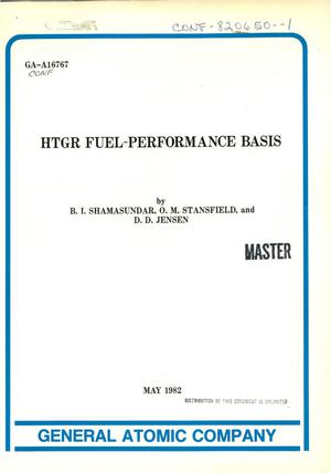 Primary view of object titled 'HTGR Fuel performance basis'.
