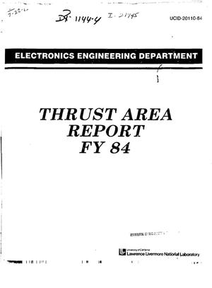 Primary view of object titled 'Electronics Engineering Department Thrust Area report FY'84'.