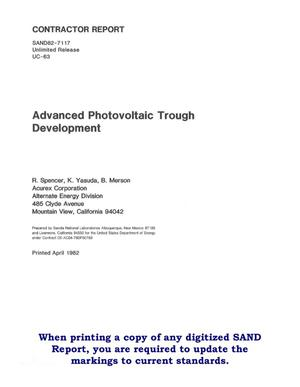 Primary view of object titled 'Advanced photovoltaic-trough development'.