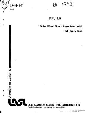 Primary view of object titled 'Solar wind flows associated with hot heavy ions'.
