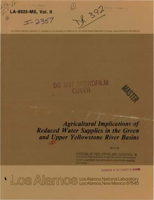 Primary view of object titled 'Agricultural implications of reduced water supplies in the Green and Upper Yellowstone River Basins'.