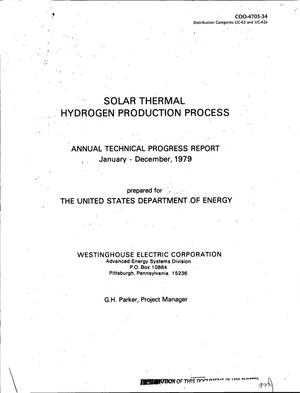 Primary view of object titled 'Solar thermal hydrogen production process. Annual technical progress report, January-December, 1979'.
