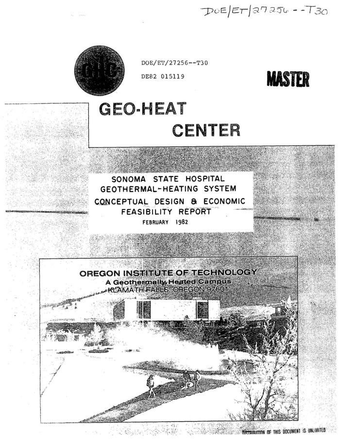 Sonoma State Hospital, Eldridge, California, geothermal-heating ...