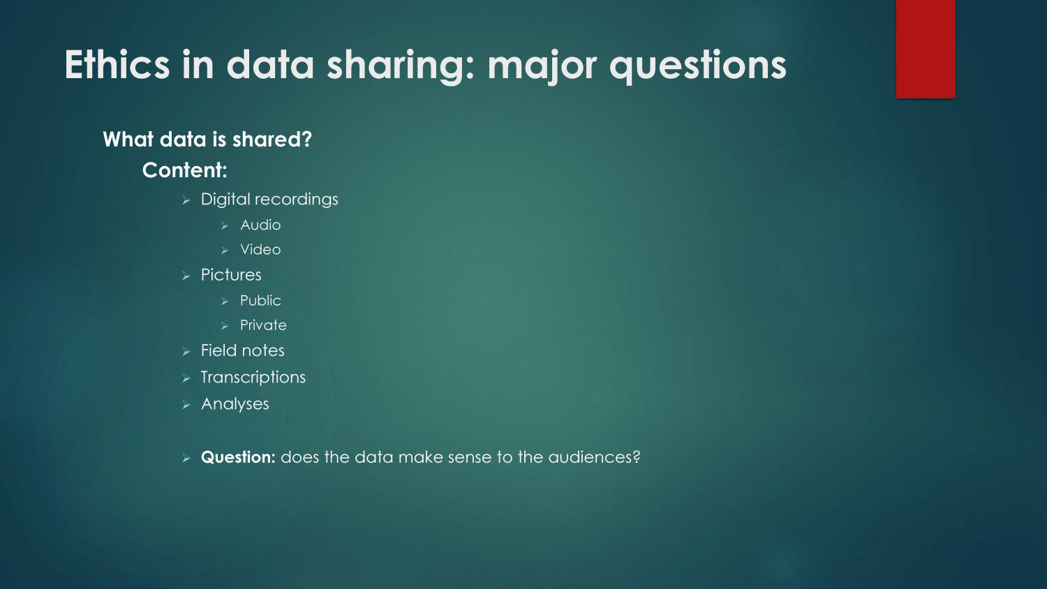Ethics in Data Sharing                                                                                                      4