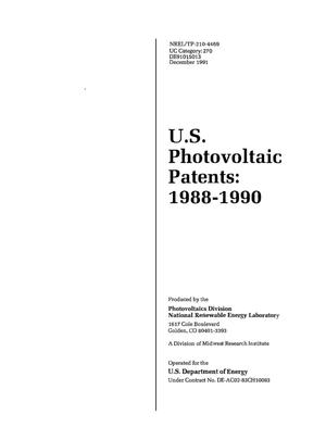 Primary view of object titled 'US Photovoltaic Patents, 1988--1990'.