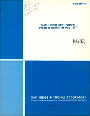 Primary view of object titled 'Coal technology program. Progress report, May 1977'.