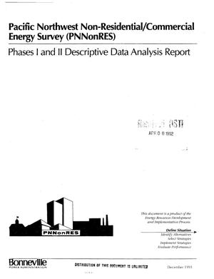 Primary view of object titled 'Pacific Northwest Non-Residential/Commercial Energy Survey (PNNonRES) Final : Phases I and II, Descriptive Data Analysis Report.'.